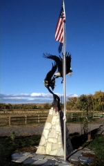 """""""American Sky""""<br>1.5 Life Size - 8.5' Wing Span<br>Edition closed """"American Sky""""  Monumental Sculpture  Lifesize Sculpture"""