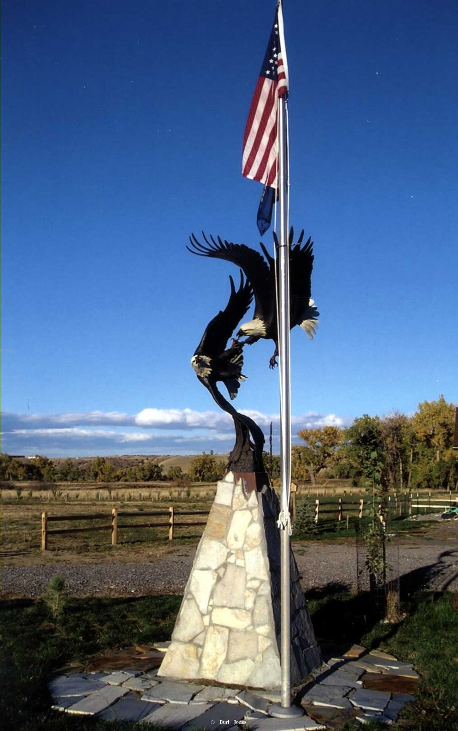 """American Sky""<br>1.5 Life Size - 8.5' Wing Span<br>Edition of 10 ""American Sky""  Monumental Sculpture  Lifesize Sculpture"