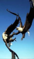 """American Sky"" ""American Sky"" - Birds  Bronze Sculpture of Birds and Fish - Edition Closed"