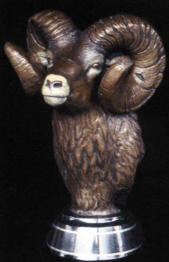 """Bighorn Bust""<br>17""T x 10""W - Edition of 50 ""Bighorn Bust"" -  Biggame  Wildlife"