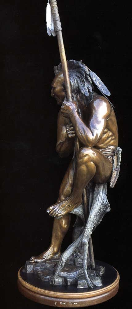 """Blackhawk""<br>Half Life Size - Edition of 30 ""Blackhawk"" -  Figurative Sculpture  People Sculpture"