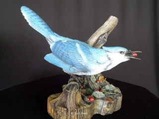 """""""Blue Jay""""  (Life Size) Limited Edition 20    """"Blue Jay"""" - Birds  Bronze Sculpture of Birds and Fish"""