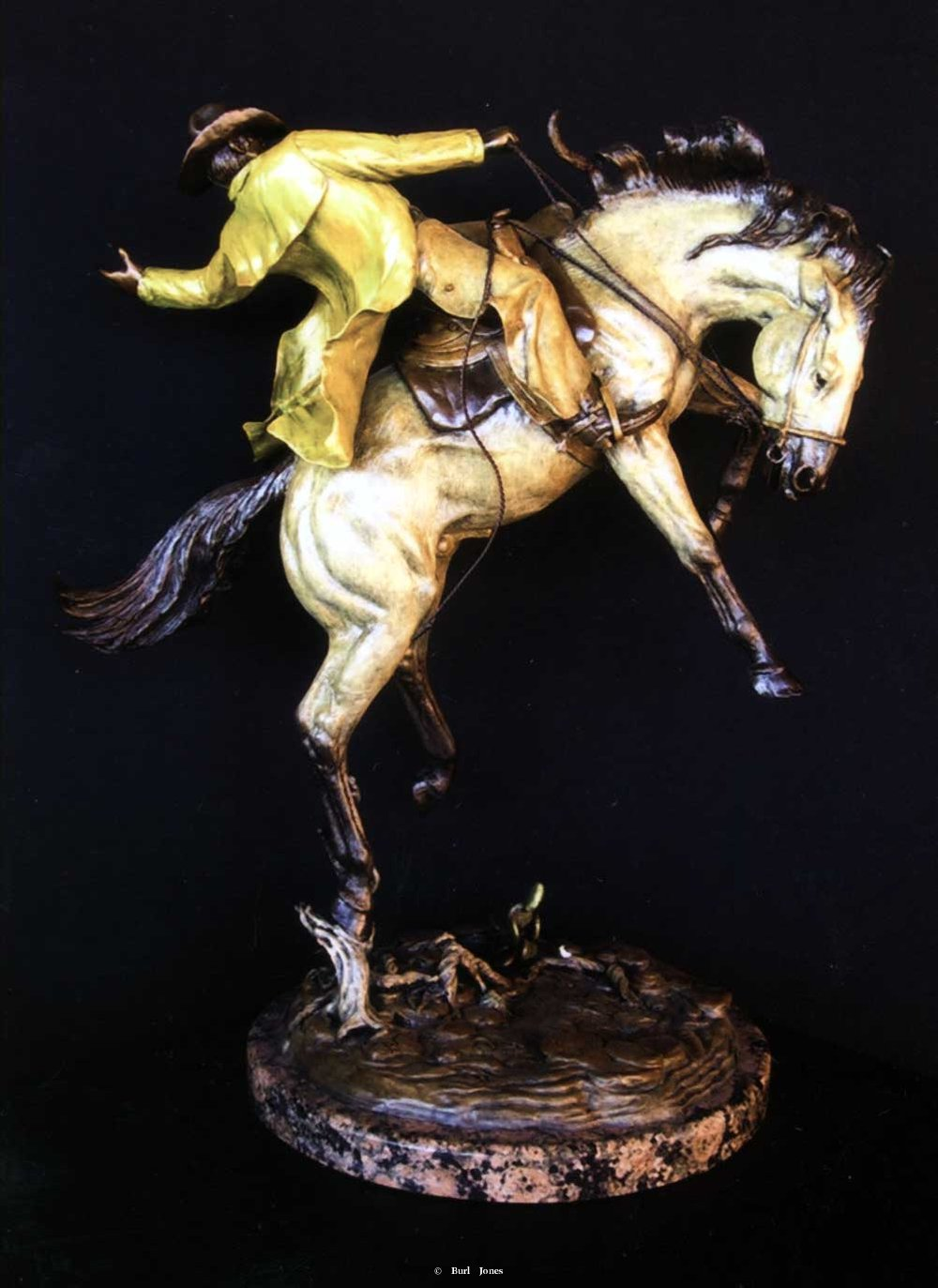 """Breakfast Rodeo""<br>24""T x 18""L - Edition of 30 ""Breakfast Rodeo"" - Figurative Sculpture  People Sculpture"