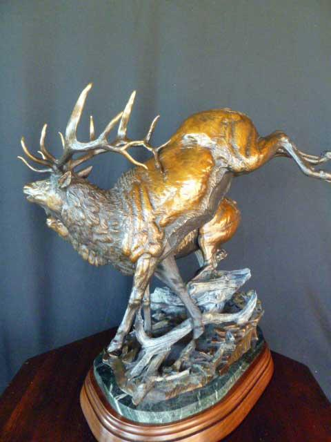 """Dead Fall"" - Elk <br> 22"" Tall  x  22"" Wide ""Dead Fall"" - Elk"
