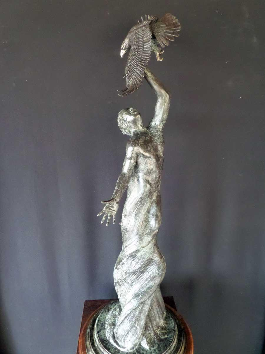 """Earth Bound"" ""Earth Bound"" - Figurative Sculpture  People Sculpture"