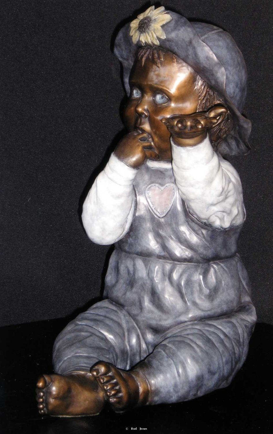"""Finger Food""<br>Life Size Baby - Edition 30 ""Finger Food"" - Figurative Sculpture  People Sculpture"