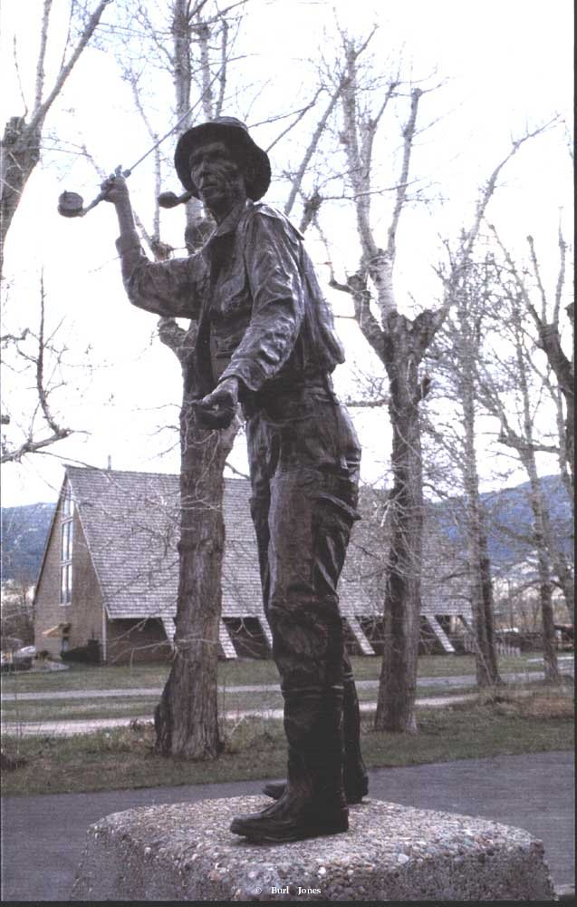 """Fly Fisherman""<br>Life Size Monument ""Fly Fisherman""  Monumental Sculpture  Lifesize Sculpture"
