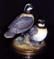 """""""Gentleman Bob"""" <br> Life Size - Edition of 50 """"Gentleman Bob"""" - Birds  Bronze Sculpture of Birds and Fish"""