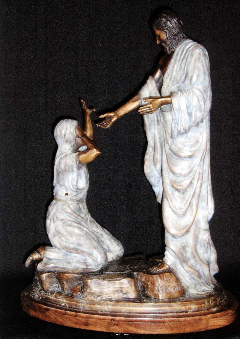 """He Arose""<br>14""T x 12""W - Edition of 50 ""He Arose"" - Figurative Sculpture  People Sculpture"