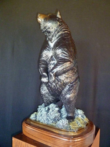 """On the Wind"" (Black Bear) <br> 23"" Tall  12"" Base   ""On the Wind"" - New"