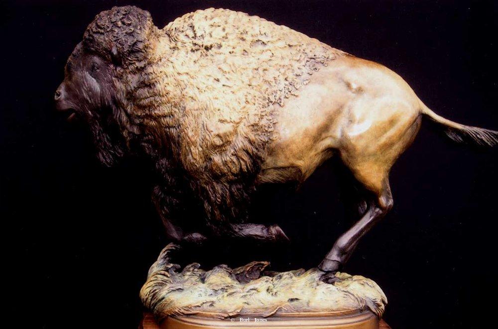 """""""Prairie Spirit"""" <br>19""""L x 14""""T - Edition of 50 """" Prairie Spirit"""" (front)  Prairie Spirit  Bison sculpture"""