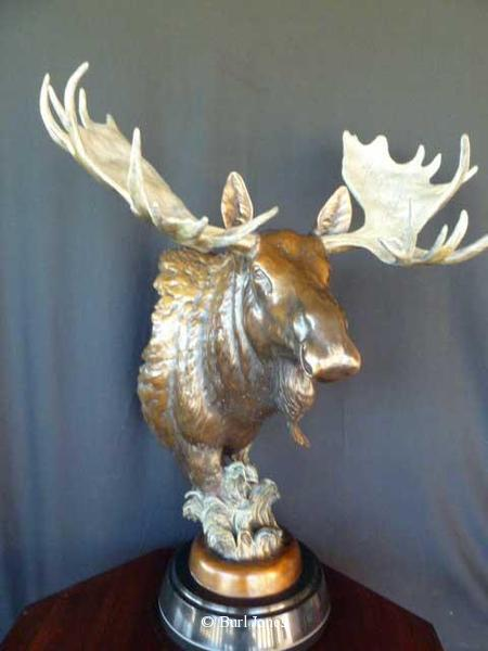 """Royal Flush"" -  Moose <br> 29 "" Tall xs   20"" Wide  ""Royal Flush"" -  Biggame  Wildlife"