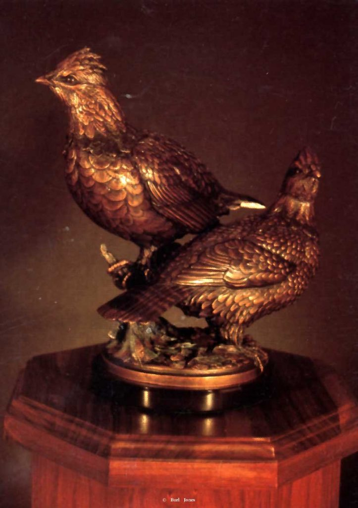 """Ruffed Grouse""<br>Life Size - Edition of 50 ""Ruffed Grouse"" - Birds  Bronze Sculpture of Birds and Fish"