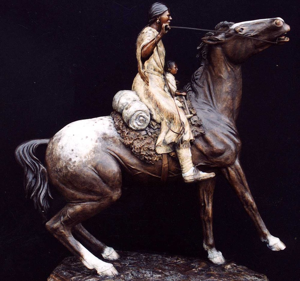 """Sacajawea and Pomp""<br>25""T x 23""L - Edition 0f 20 ""Sacajawea and Pomp""  Figurative Sculpture  People Sculpture"