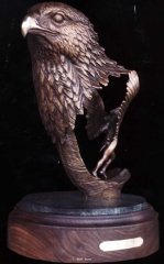 """""""Spirit of the Wind""""<br>16"""" Tall - Edition of 30 """"Spirit of the Wind"""" - Birds  Bronze Sculpture of Birds and Fish"""
