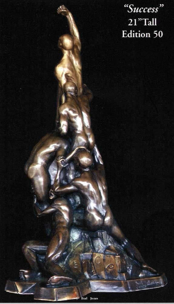 """Success"" <br>21"" Tall - Edition of 50 ""Success"" - Figurative Sculpture  People Sculpture"
