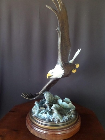 """Surfing""  American Bald Eagle <br> L/E 20 - 31"" Wing Span  ""Surfing"" American Bald Eagle - New"