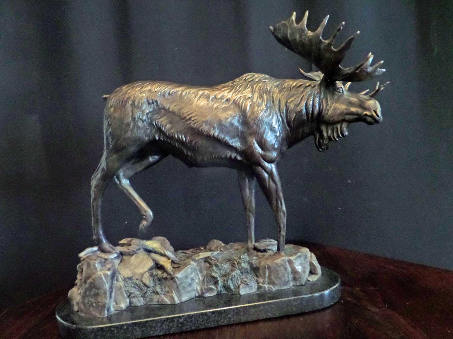 """Swamp Donkey""  - Moose<br>Size: 12 1/2 "" tall  x  15"" long   ""Swamp Donkey"" -  Biggame  Wildlife"