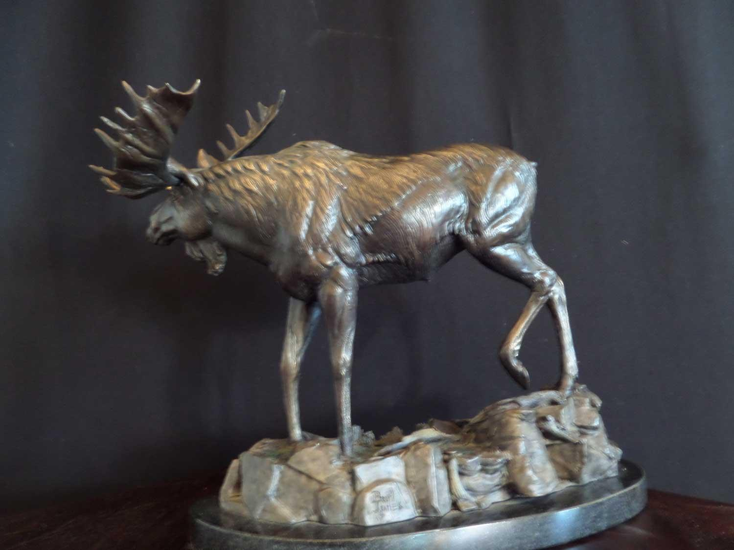 """Swamp Donkey""  - Moose<br>Size: 12 1/2 "" tall  x  15"" long   ""Swamp Donkey"""