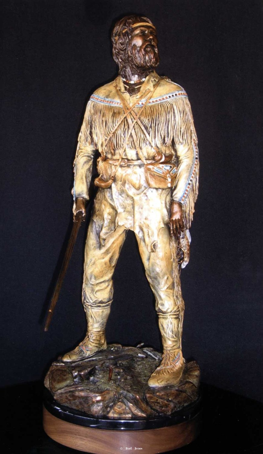 """The Trapper"" - Figurative Sculpture  People Sculpture"