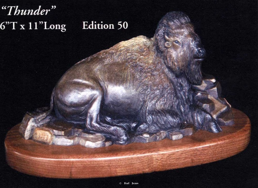 """Thunder"" <br>6""T x 11""L - Edition of 50 ""Thunder"" -  Biggame  Wildlife"