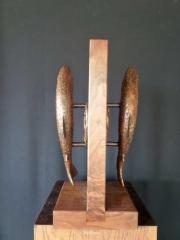 "Trout Door Handles<br>15"" Long - Limited Edition of 30 Trout Door Handles - Fish  Bronze Sculpture of Birds and Fish"