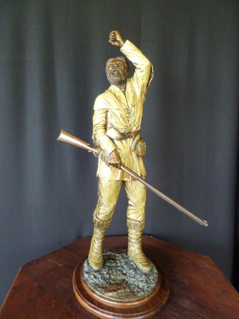 "(Mountaineer) ""Upward Bound""  26"" tall  Base  10"" x 12""   "" Upward Bound"" - Figurative Sculpture  People Sculpture"