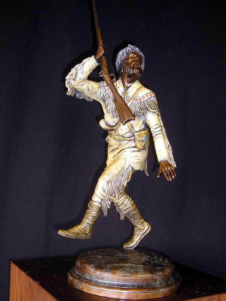 """Victory Lap""  Figurative Sculpture  People Sculpture"