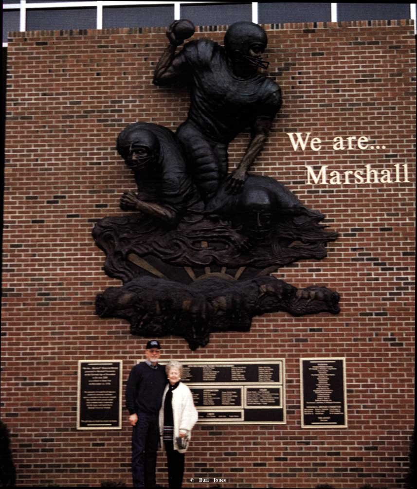 """We Are Marshall"" ""We Are Marshall""  Monumental Sculpture  Lifesize Sculpture"