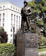 Standing on the Lawn of the West Virginia Capital West Virginia Capital  Monumental Sculpture  Lifesize Sculpture