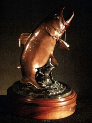 """""""Wild & Free""""<br>14"""" x 10"""" - Edition of 30 """"Wild & Free"""" - Fish  Bronze Sculpture of Birds and Fish"""
