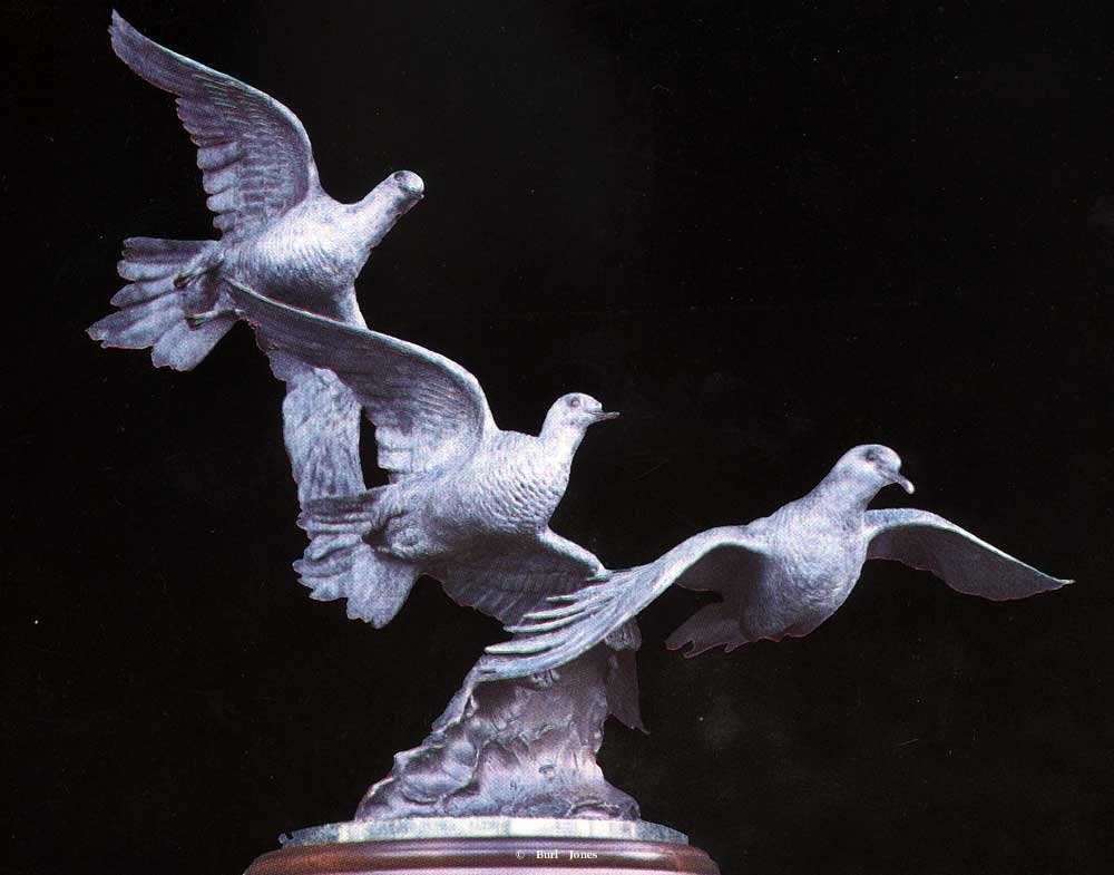 """Wings Of Peace""<br>20"" Tall - Edition of 30 ""Wings Of Peace""  Wings Of Peace  sculpture of doves in flight"